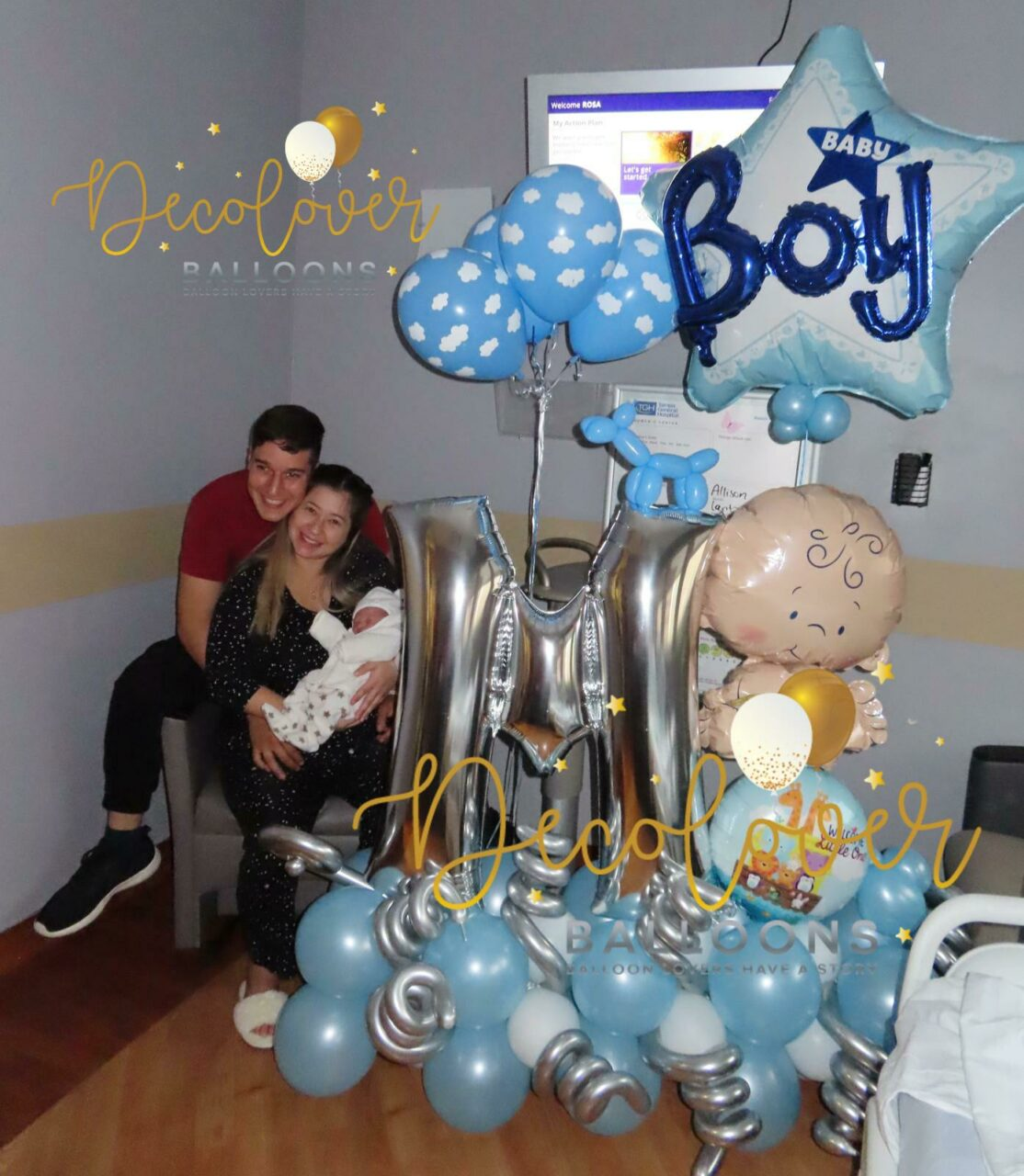 Bouquet Baby Boy Decolovers Balloons