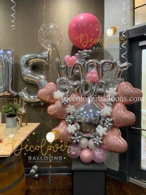 Happy Birthday Sweet 15 Balloon Bouquet decoloverballoons.com Tampa parties bouquets happy birthday balloon bouquets