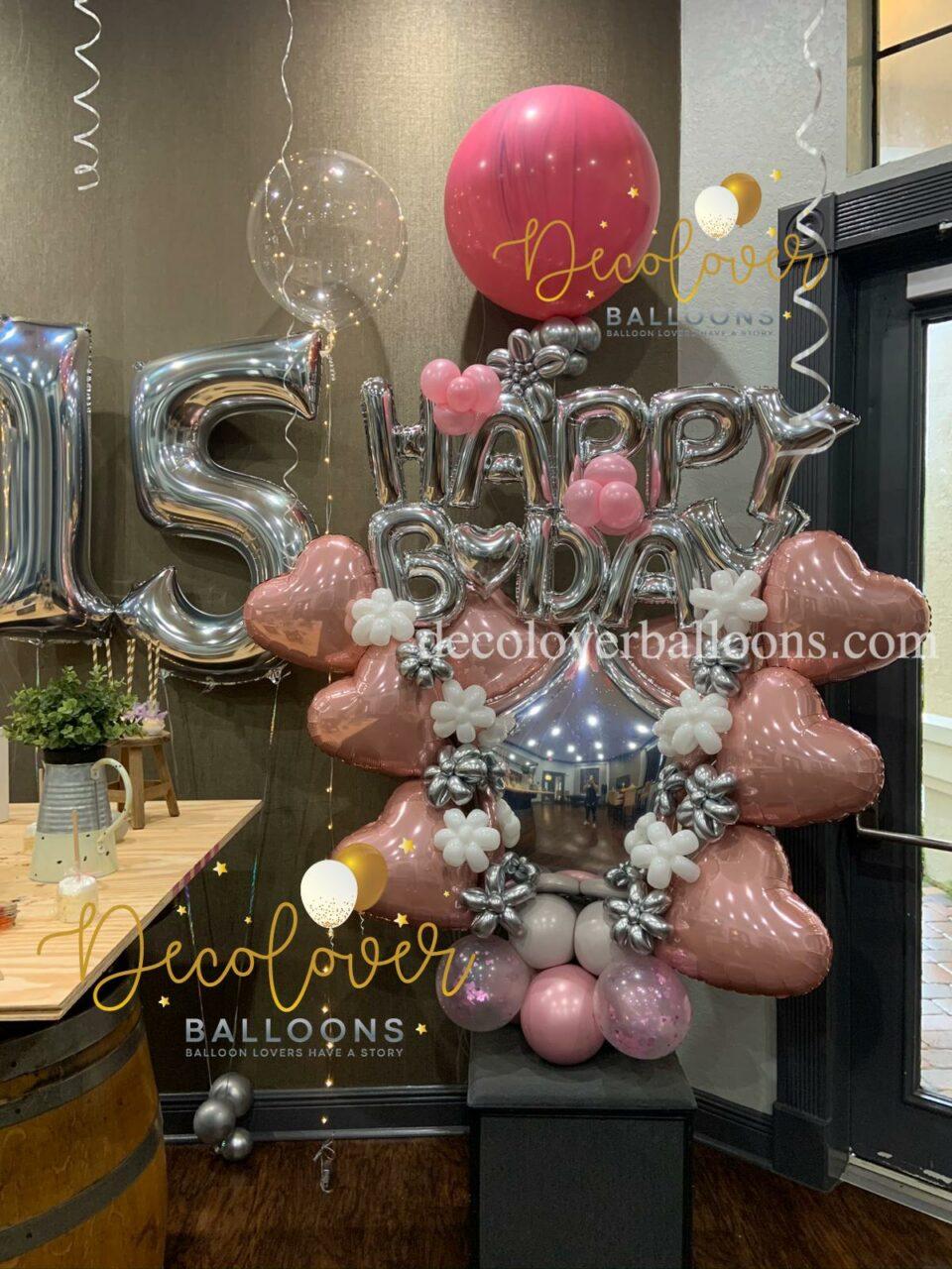 Bouquet Happy Birthday Sweet 15 Decolovers Balloons