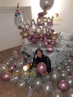 Happy Birthday Dream Balloon Bouquet decoloverballoons.com Tampa, FL for her balloon bouquets happy birthday bouquets mothers day parties