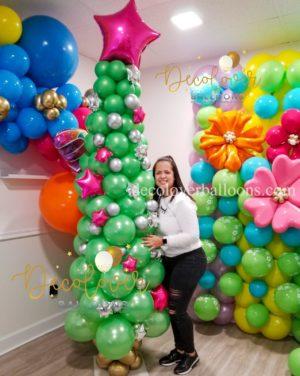 Sweet Christmas Balloon Bouquet decoloverballoos.com Tampa, FL Christmas decorations balloon bouquets  balloons bouquets celebrations
