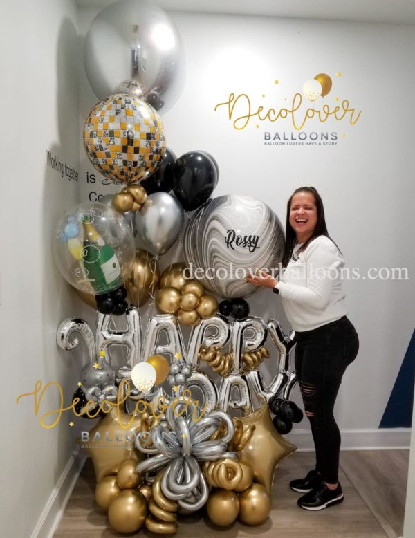 Happy Birthday Awesome Balloon Bouquet decoloverballoons.com Tampa, FL balloon bouquets happy birthday bouquets for her mothers day balloons
