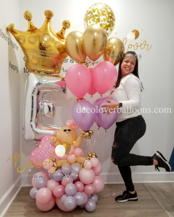 Happy Birthday Queen Balloon Bouquet decoloverballoons.com Tampa, FL balloon bouquets happy birthday balloon bouquets, bouquets celebrations love for her mothers day