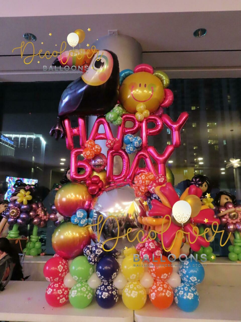 Bouquet Happy Birthday Tropical Decolovers Balloons