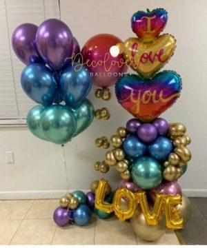 decoloverballoons.com Balloons Bouquet Love Silver tampa florida