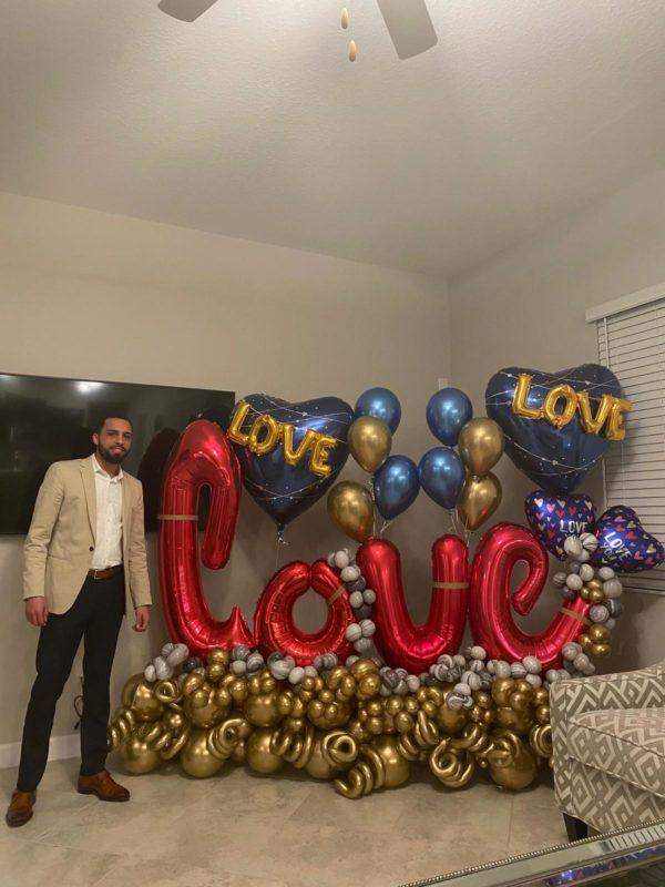 decoloverballoons.com Balloons Bouquet golden love 2 tampa florida